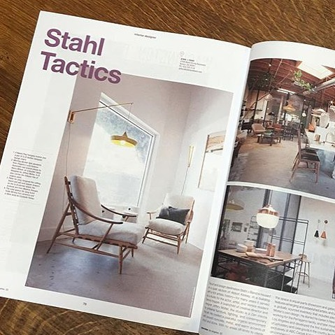 #regram Double page feature of our lovely stockists Stahl + Band beautiful showroom over in Venice Beach, in Egoreview magazine LA. showing our Cave Wall Light. Haven't had the pleasure of visiting yet but hoping 2018 will be the year we do.... image by Stahl + Band