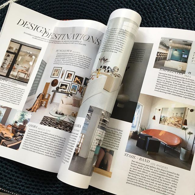 Fantastic to see our very special stockists @stahlandband in the July @elledecorationuk 'Design Destinations' best boutiques to visit across the globe 🏽by
